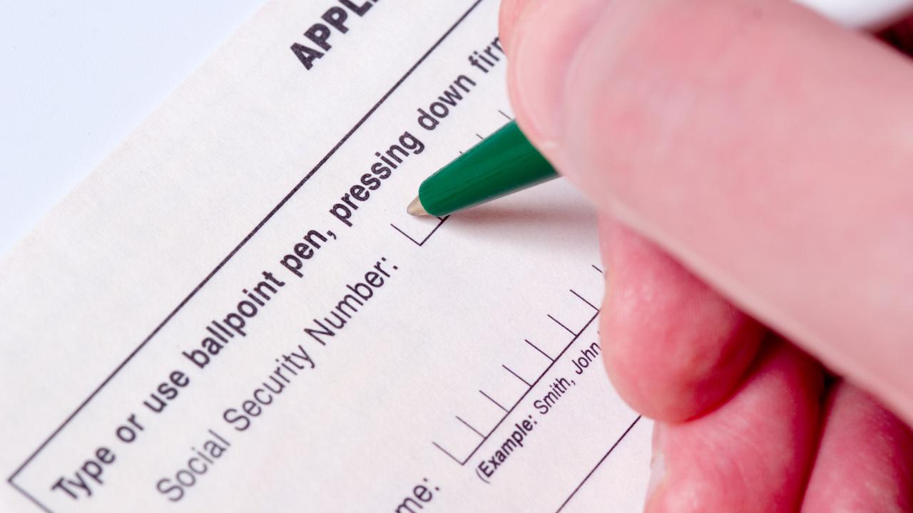 a social security number paperwork