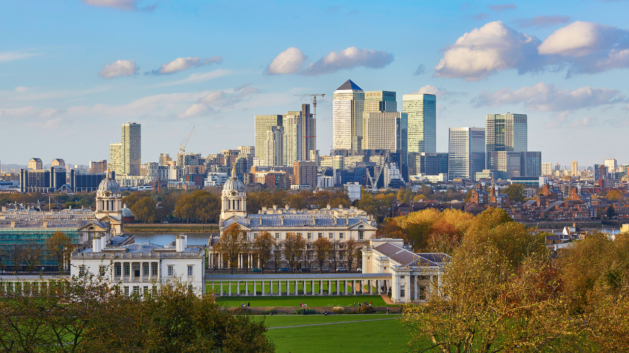 a photo of greenwich skyline