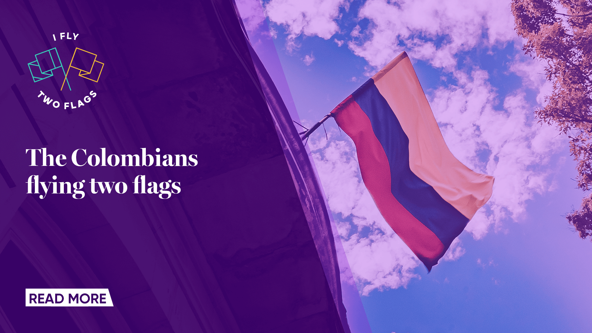 Columbians flying two flags