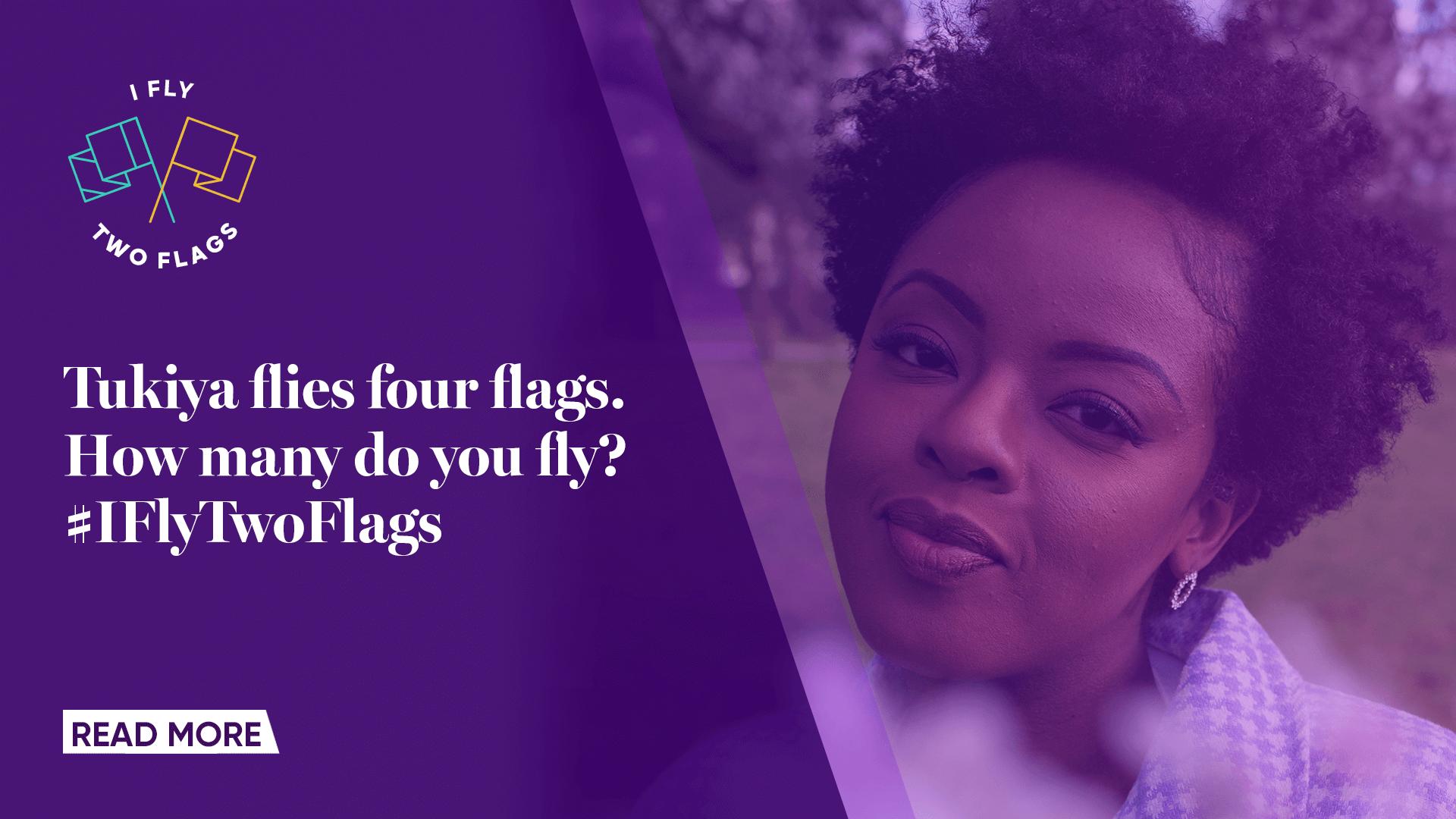 Tukiya flys four flags