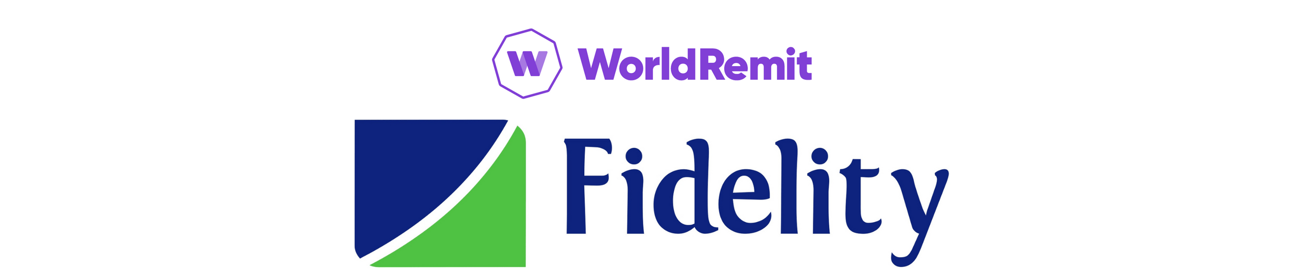 A banner showing the logos of Fidelity Bank and WorldRemit