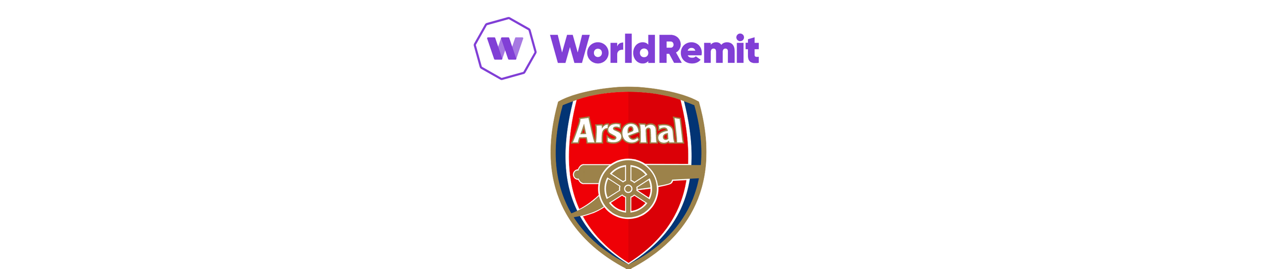 A banner with WorldRemit and Arsenal logos