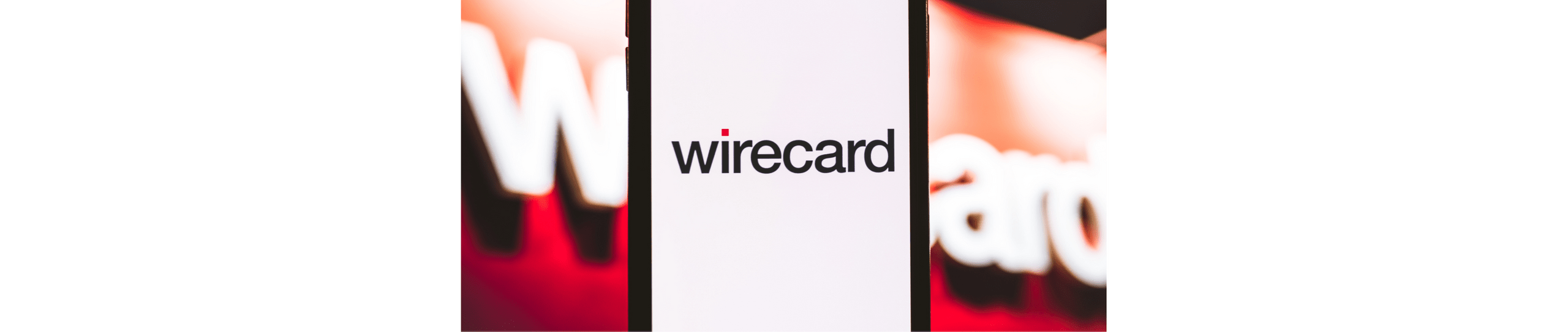 A banner image with a logo of wirecard in the centre