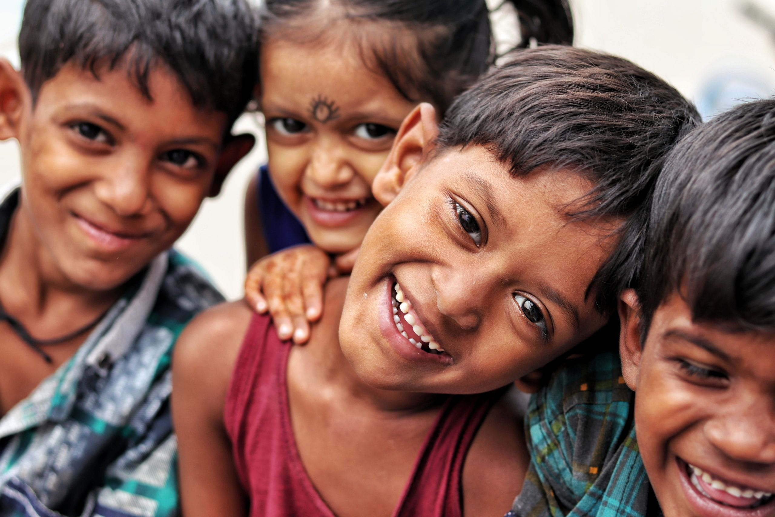 photo of a group of smiling children